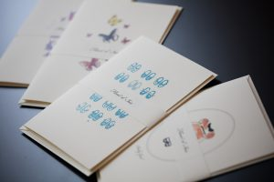 Iris Karten Babyblau